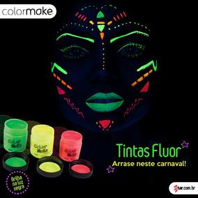 Kit 6 Tinta Facial Líquida + 4 Batom Neon Fluorescente