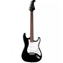 Guitarra Eagle Stratocaster Sts-001 Bk Ou Red Status Som