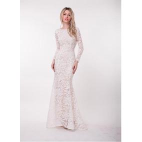 Vestido De Casamento Sereia Tule Bordado Sob Medida 2018