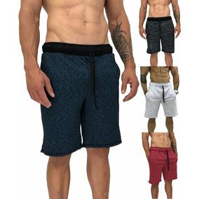 4 Bermuda Moletom Moletim Moleton Shorts Bermudas Slim Fit