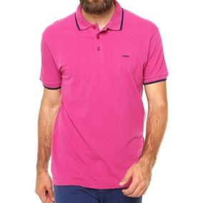 fcb094ccb9 Camisa Gola Apolo Rosa Masculina - Calçados