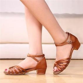 Tacones Zapatos Para Baile Niña Tacón Hermoso Danza Bailar