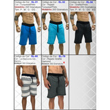 6 Bermuda Moletom Moletim Shorts Slim Fit Calção Orginal Kit b06f66005c8a7