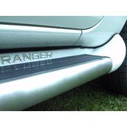 Estribo Personalizado Cor Prata Geada Ranger Cd 2013 Acima