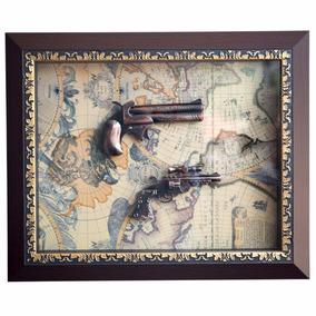 Quadro Armas Replica Decorativa De Madeira E Vidro 46x37cm