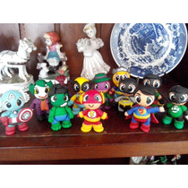 Mini Superheroes Y Apliques En Porcelana Fria!!