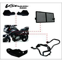 Kit Vstrom Dl 650 Protetor Mão Carter Radiador Motor 07 2013