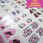 Cartelão 156 Adesivos Unha Inteira Decorada Película Em Gel