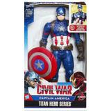 Marvel Titan Hero Eletrônico Capitão América Hasbro