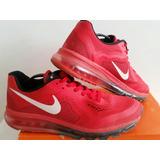 Air Max 2014 Nike Roja Usada. Talle Br42 Us10 Uk9 Eur44 Cm28