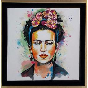 Frida Khalo Pintura Oleo Sobre Tela 100x100 Marco De Regalo