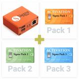 Sigma Box Full Pack 1,2 Y 3 Con Su Juego De Cables Nueva
