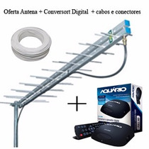Kit Conversor Aquario + Antena Digital + Cabo Frete Gratis!!