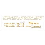 Kit Adesivo Chevrolet S10 Tornado 4x4 2006 Dourado S10kit54