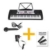 Órgano Teclado Musical 54 Teclas Meike Mk4300 + Fuente Promo