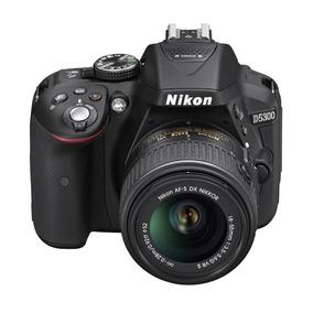 Camera Nikon Dslr D5300 Preta Lente Af-p Dx Nikkor 18-55mm