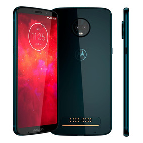 Smartphone Moto Z3 Play Indigo Camera Traseira 12mp + 5mp.