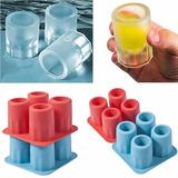 Forma Vermelha De Gelo Copo Drink Bebidas Molde Ice Shots