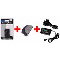 Kit Tampa + Bateria + Carregador Psp Slim 2000 3000 3001