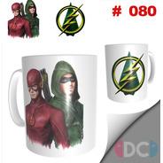 Taza Comics Coleccionables Arrow / Flash Dc Comics #080