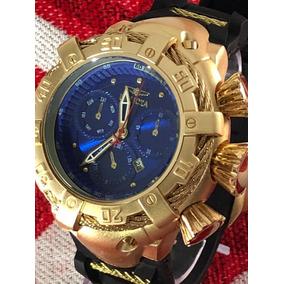 Relógio Masculino Dourado Invicta Bolt Thunderbolt Zeus+fret