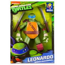 Brinquedos Menino Boneco Tartarugas Ninja Leonardo 55cm Mimo