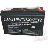 Bateria Selada 12v 9ah Unipower Up1290 No-break, Bicicleta
