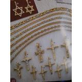 Hermosa Cruz Con Cristo De Oro 18 Kt, Ref. 266, Joyeria Mimi