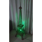 Luminária Torre Eiffel Mdf 1,25 M - Completa Com Lampada Rgb