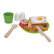 Set De Desayuno Juguete De Madera - Breakfast Menu