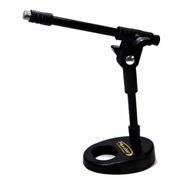 Pedestal Suporte Mesa Microfone Torelli Hpm56 Pés De Ferro