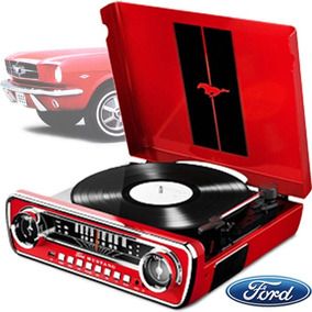 Toca Disco Lp Mustang Usb 4 Em 1 Vintage Radio Vinil Vitrola