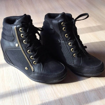 Ankle Boots Tênis Feminino Salto