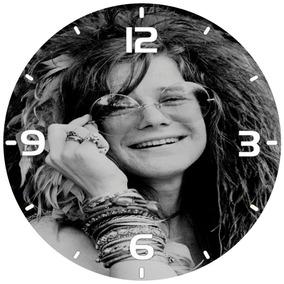 Relógio Parede Rock Clássico Janis Joplin Tamanho Grande