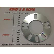 Par Alargador Espaçador Roda Universal 4 E 5 Furos ( 5mm )