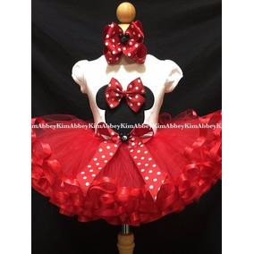 Conjunto Fantasia Aniversário Roupa Tutu Minnie + Mickey
