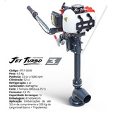 Motor Barco Bote Caiaque Jet Turbo 3hp