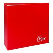 Álbum Mega 1000 Fotos 10x15 Corino Vermelho Com Ferragem