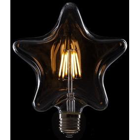 Foco De Led Gigante De 6w Estrella Vintage Retro Edison