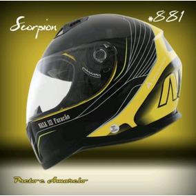 Capacete Nasa Helmets Scorpion Preto/amarelo