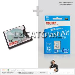 Conversor Sd Para Cf +cartão Memória Sd Wifi 32gb C10 W03 Sj