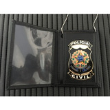 Carteira Distintivo 2 Em 1 Policia Civil Naci- Frete Grátis