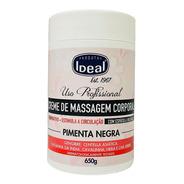 Ideal Creme De Massagem Corporal Pimenta Negra 650grs