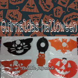 Guirnalda Halloween Banderín Bruja Calabaza Esqueleto Local