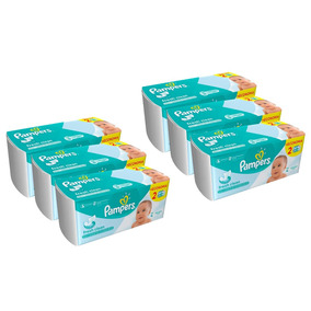 Kit 6 Lenços Umedecidos Pampers Regular - 576 Unidades