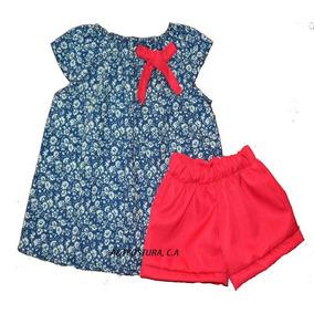 Conjuntos Niñas Moda Blusa Short Talla 2-4-6 Alta Calidad