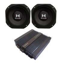 Alto Falante Snake Esx608 + Amplificador Power Systems A600