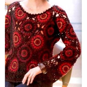 Sweater Crochet-vestidos-cortinas-manteles-almohadones