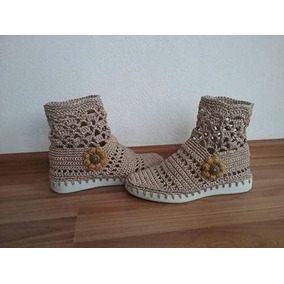 Zapatos Para Dama, Caballeros, Niños Y Bebe En Crochet