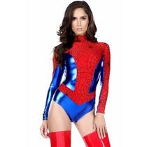 Sexy Disfraz De Heroina Seductora Mujer Araña